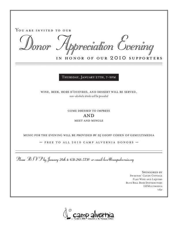 Donor Appreciation Evening Invitation The Latest News